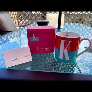 """Kate Spade Lenox """"K"""" Mug"""